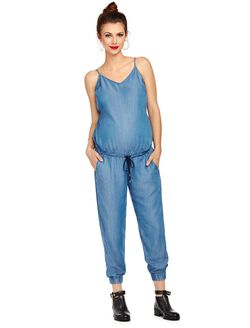 Splendid Maternity Jumpsuit, Denim