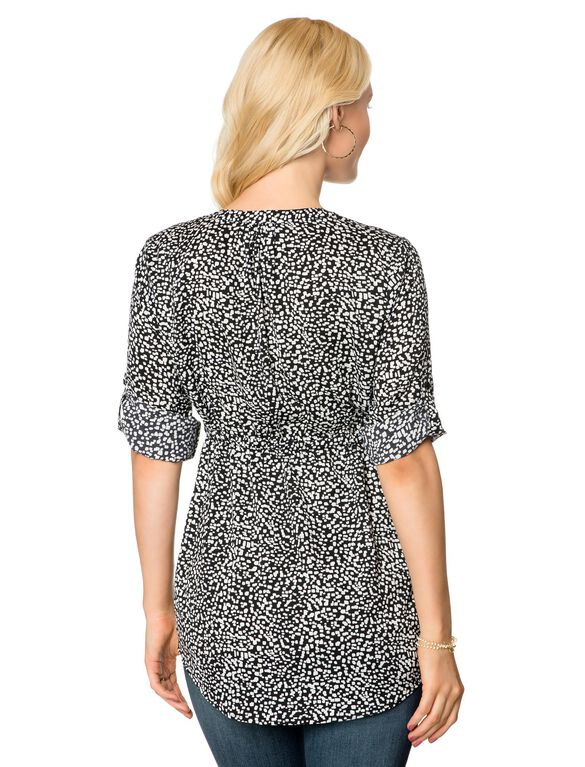 Tie Detail Maternity Tunic, Dot Print
