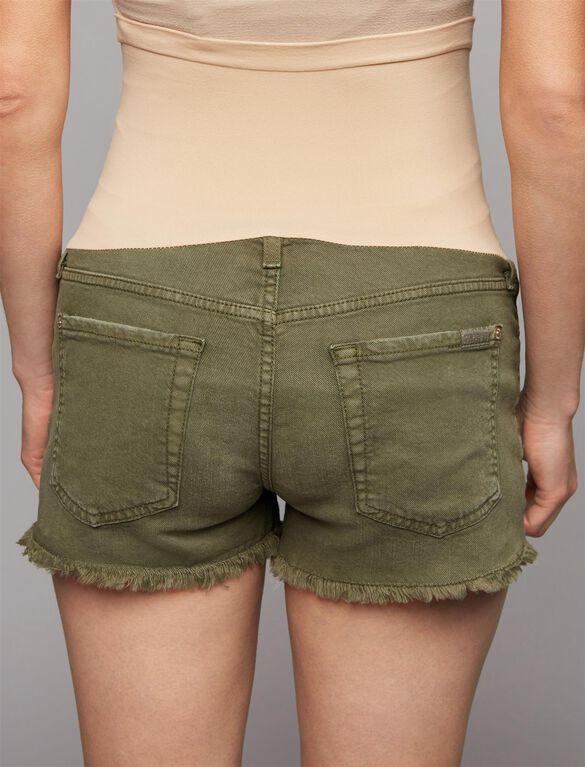 7 For Mankind Secret Fit Belly Fray Hem Maternity Shorts, Olive