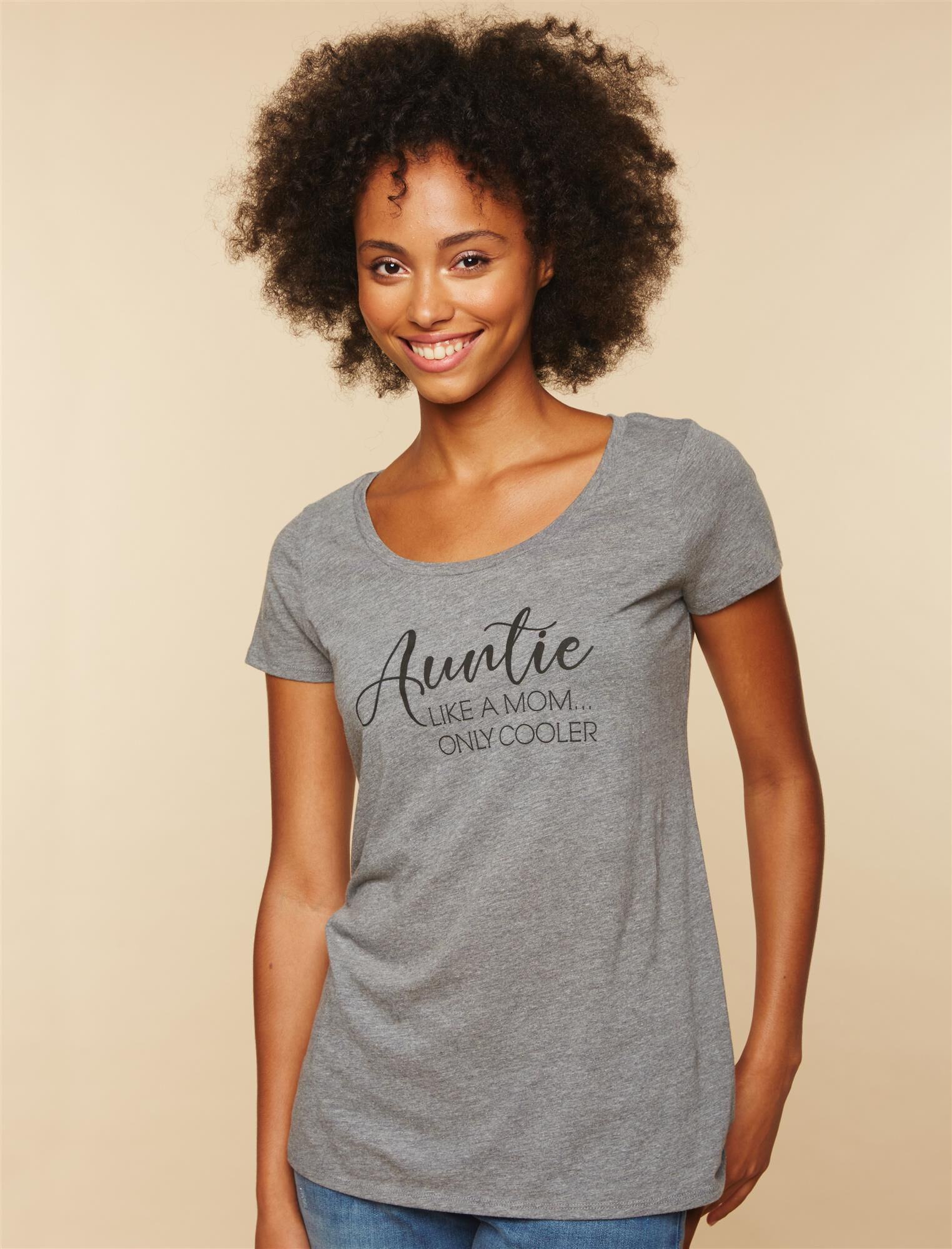 Auntie Like A Mom. Only Cooler Tee
