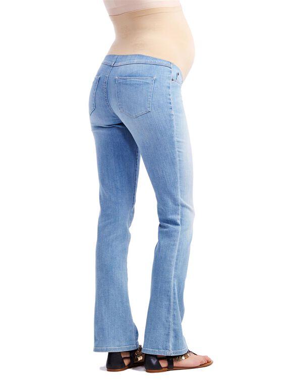 Jessica Simpson Secret Fit Belly Wide Leg Maternity Crop Jeans, Blue Wash