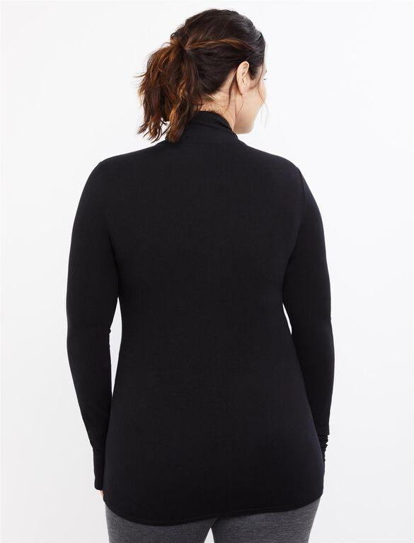 Zip Front Maternity Active Jacket, Black