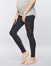 Beyond The Bump Fold Over Belly Maternity Leggings, Black