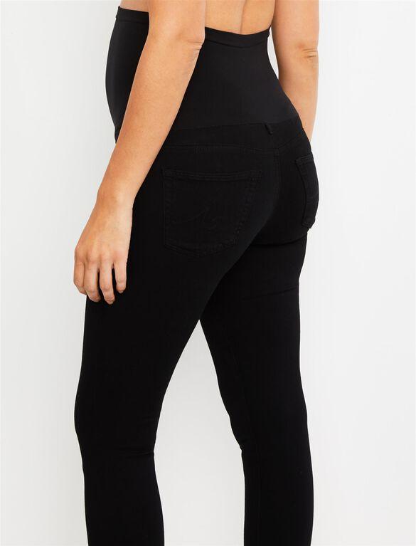 AG Secret Fit Belly Legging Ankle Maternity Jeans, Super Black