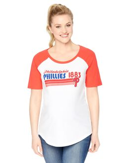 Philadelphia Phillies MLB Elbow Sleeve Maternity Graphic Tee, Phillies
