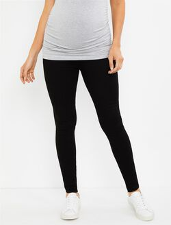 Web Only Articles Of Society Secret Fit Belly Skinny Leg Maternity Jeans, Black Denim