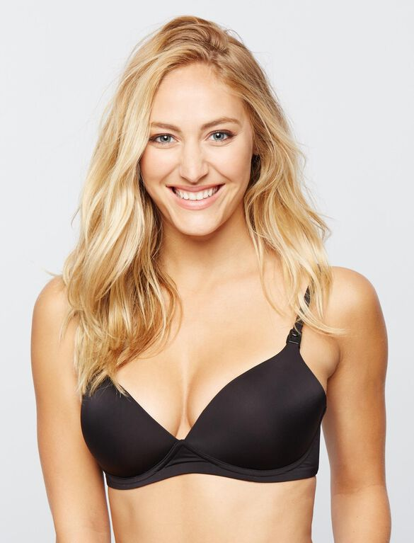 Wireless Demi Nursing Bra, Black