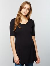 Seamed Maternity Swing Top, Core Black