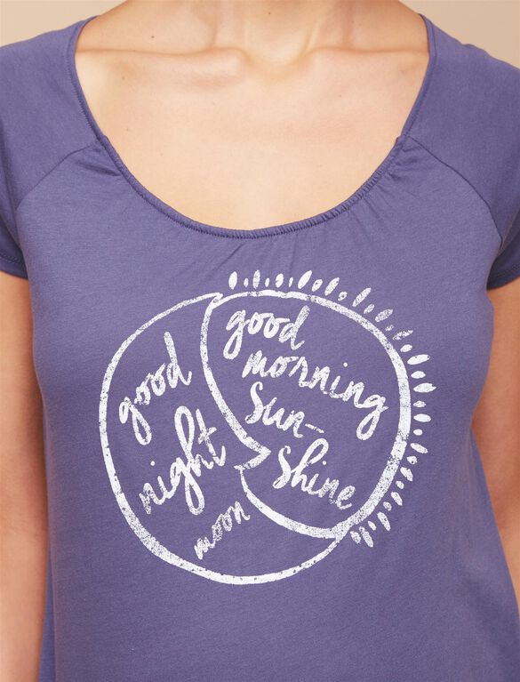 Good Night Good Morning Nursing Tee, Navy
