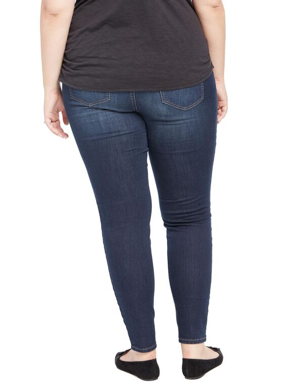 Plus Size Secret Fit Belly Jegging Maternity Jeans, Amarello Wash