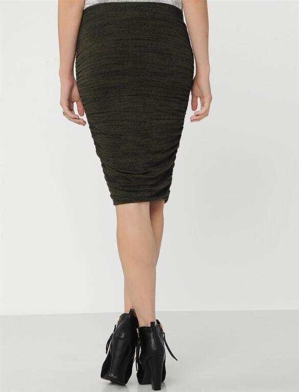Splendid No Belly Maternity Skirt, Olive