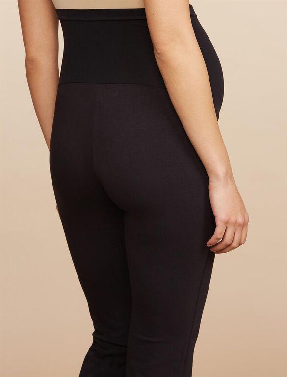 Secret Fit Belly Boot Cut Maternity Yoga Pants, Black