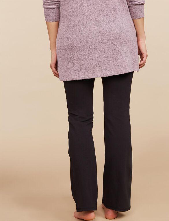 Petite Secret Fit Belly Boot Cut Maternity Yoga Pants, Black