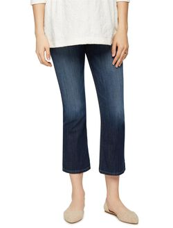 Joe's Jeans Secret Fit Belly Olivia Cropped Flare Maternity Jean, Dark Wash