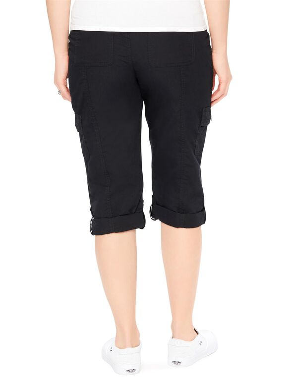 Secret Fit Belly Poplin Maternity Pants, Black
