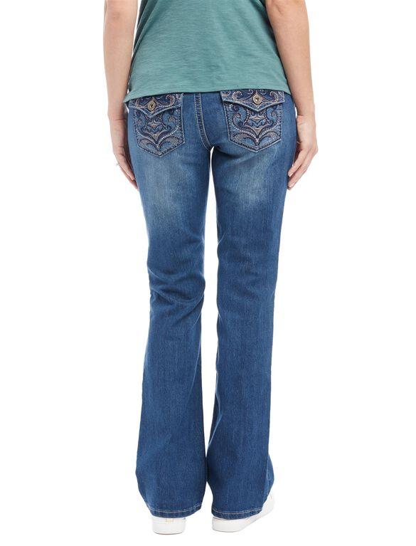 Secret Fit Belly Boot Cut Maternity Jeans, Dark Wash
