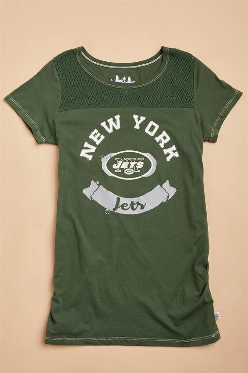 New York Jets  NFL Mesh Detail Maternity Tee, Jets