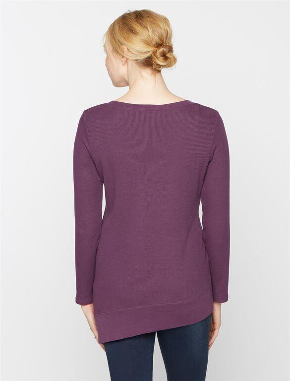 Splendid Maternity T Shirt, Eggplant