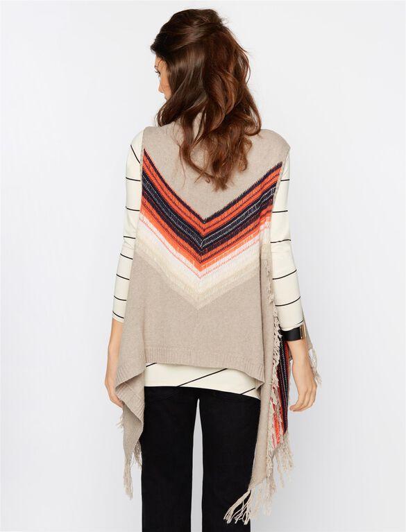 Ella Moss Chevron Stripe Maternity Sweater, Sand