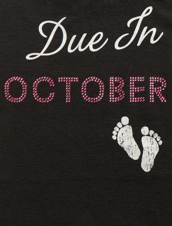 Due In October Maternity Tank Top, 10-october