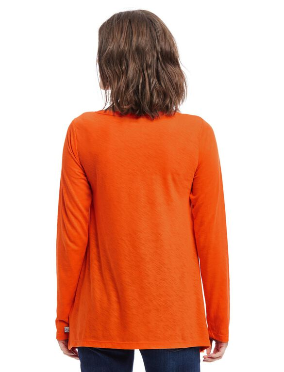 Denver Broncos NFL Long Sleeve Maternity Graphic Tee, Broncos Orange