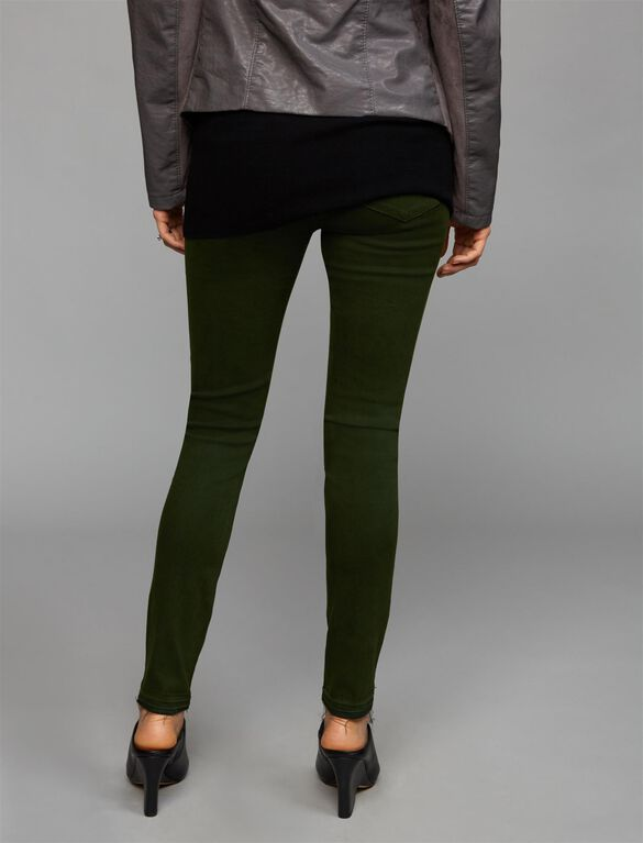 Articles Of Society Secret Fit Belly Twill Skinny Leg Maternity Pants, Olive