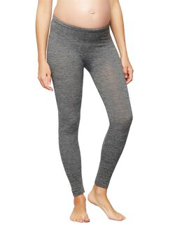 Fleece Lined Maternity Leggings, Grey