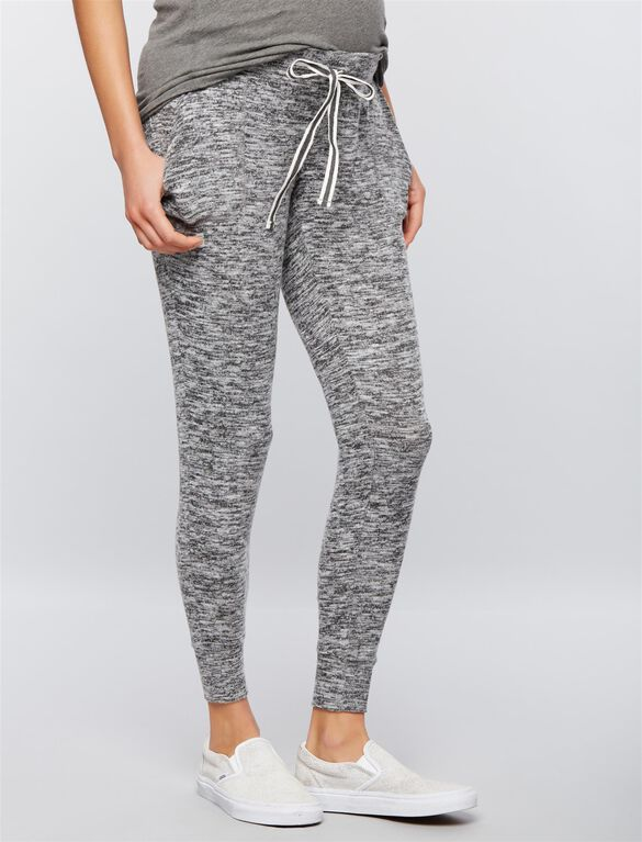 Under Belly Jogger Maternity Pants, Light Grey