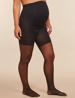 Assests By Sara Blakely Sheer Maternity Pantyhose, Black