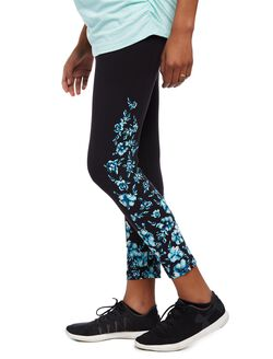 Secret Fit Belly Printed Maternity Crop Leggings- Floral, Floral Print