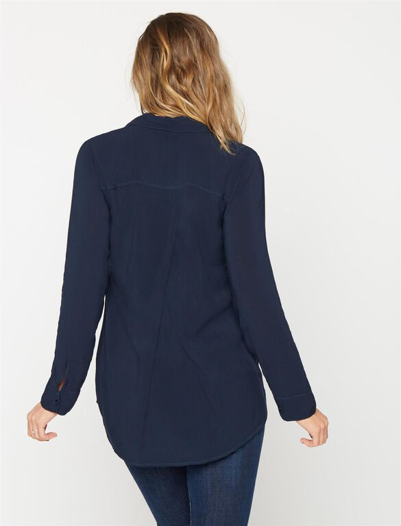 Splendid Maternity Shirt, Navy
