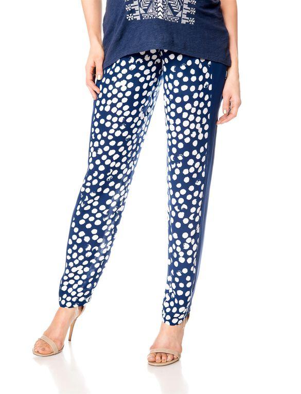 Rebecca Minkoff Secret Fit Belly Cotton Woven Slim Leg Maternity Pants, Dot Print