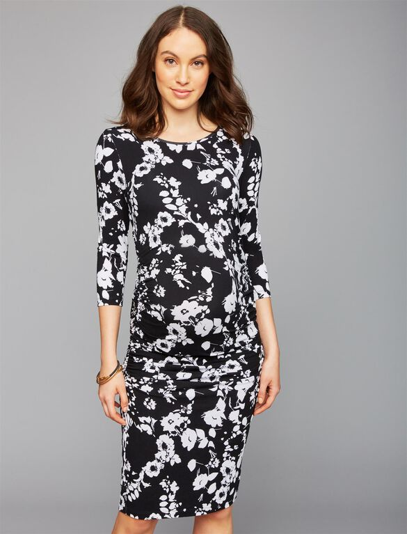 Isabella Oliver Ruched Maternity Dress, Floral Print