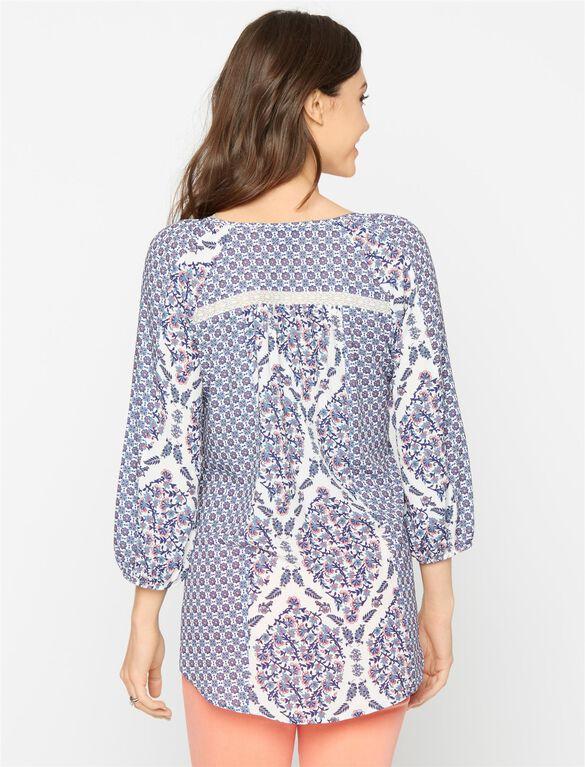 Lace Maternity Tunic, Print Mix
