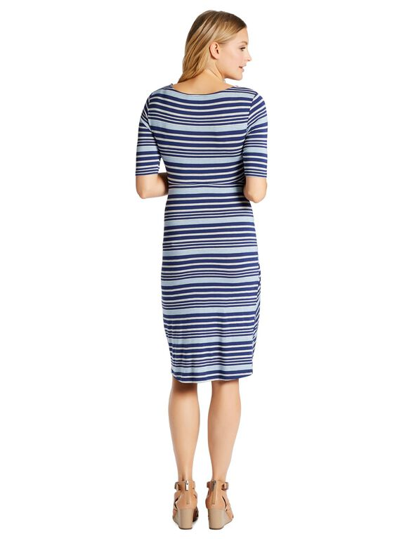 Jessica Simpson Super Soft Maternity Dress, Blue Stripe