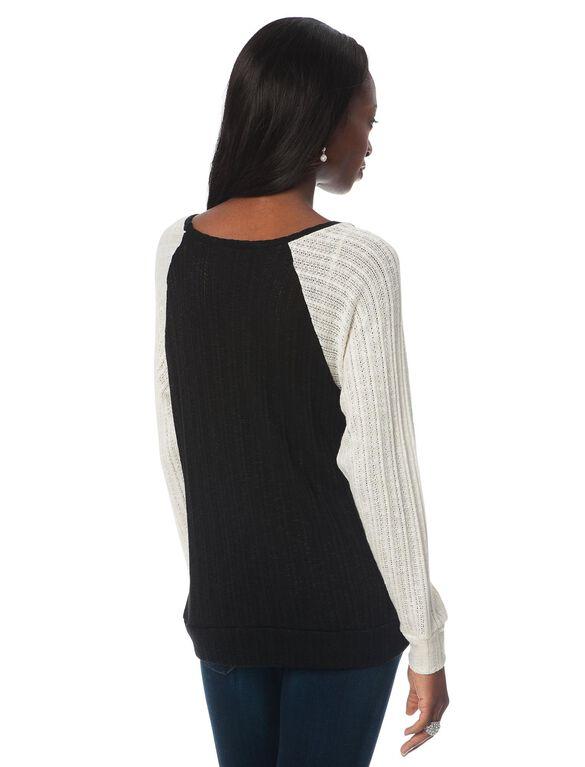 Colorblock Maternity Sweater, Colorblock