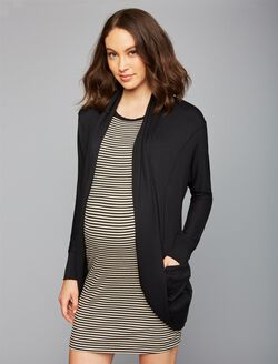 Cocoon Maternity Cardigan- Solid, Black
