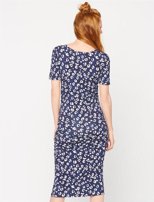 Isabella Oliver Maternity Print T-Shirt Dress, Leopard Print