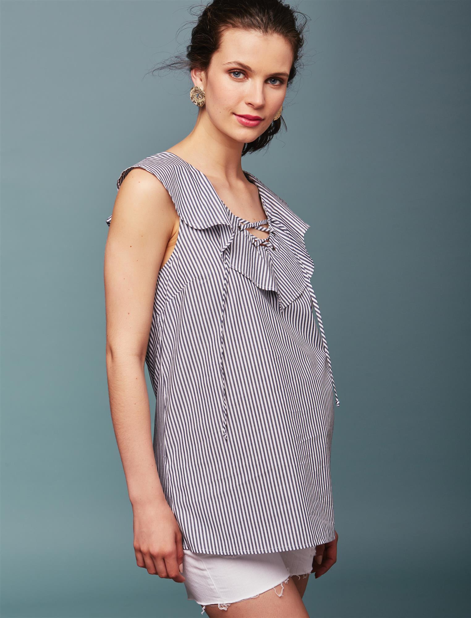 Ella Moss Ruffle Front Maternity Top