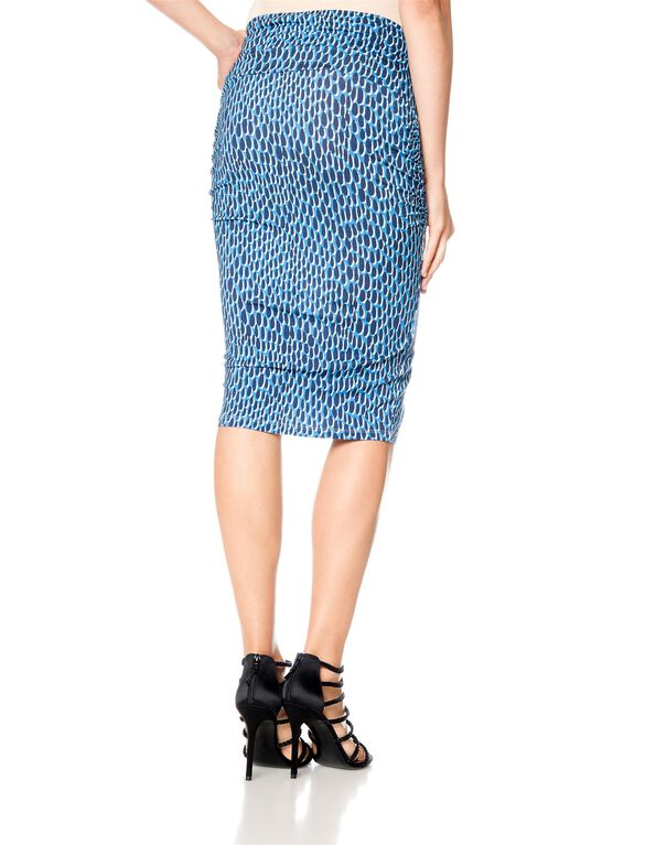 Isabella Oliver Maternity Skirt, Blue Dot Print