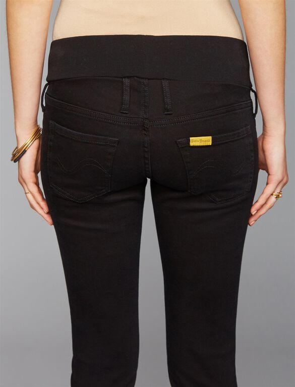 Pietro Brunelli Under Belly Jegging Maternity Jeans, Black