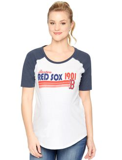Boston Red Sox MLB Elbow Sleeve Maternity Graphic Tee, Red Sox