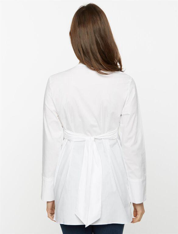 Isabella Oliver Granville Maternity Shirt, White