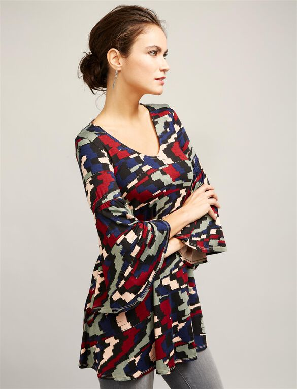 Rachel Pally Shirring Detail Maternity Tunic, Multi Print