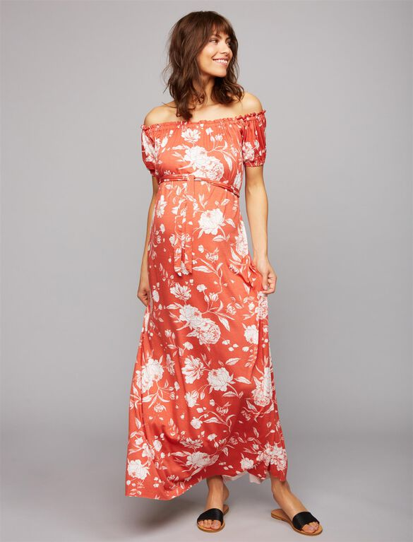 Rachel Pally Off The Shoulder Maternity Dress, Peony Print