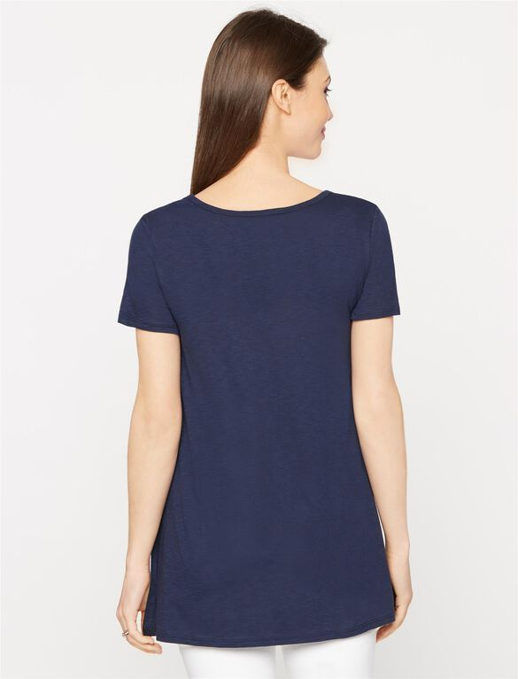 High-low Hem Maternity T Shirt, Midnight
