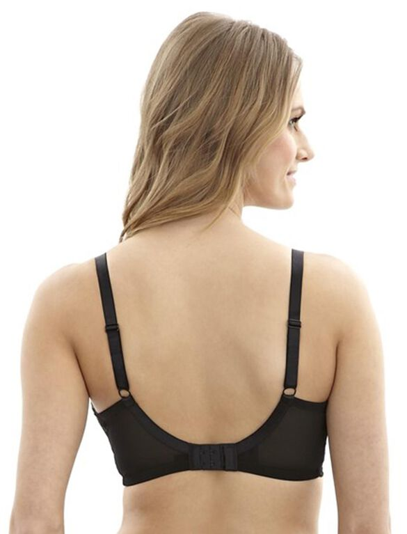 Panache Sophie Wireless Lace Nursing Bra, Black