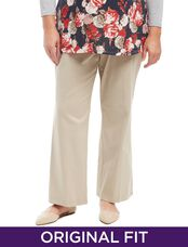 Plus Size Secret Fit Belly Twill Maternity Pants, Stone