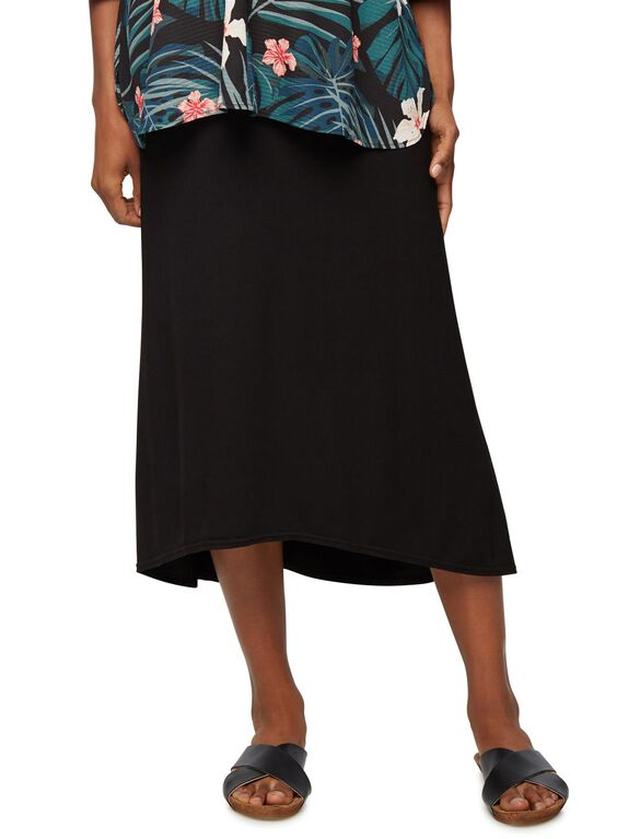 Rachel Zoe Maternity Midi Skirt, Black