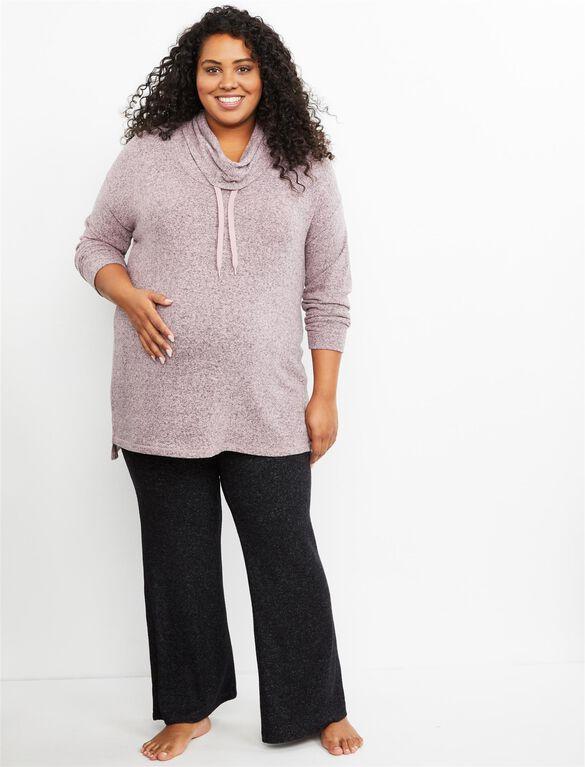 Plus Size Secret Fit Belly Boot Cut Maternity Yoga Pants, CHARCOAL GREY
